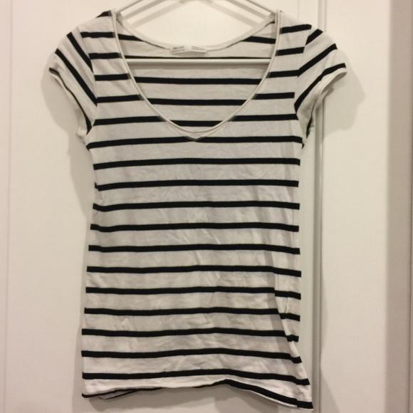 75829726ff Zara Tops | Trf Black And White Stripe Shirt Size M | Poshmark